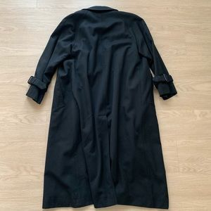 Burberry Jackets & Coats - Classic Black Plaid Burberry Trench Coat Raincoat